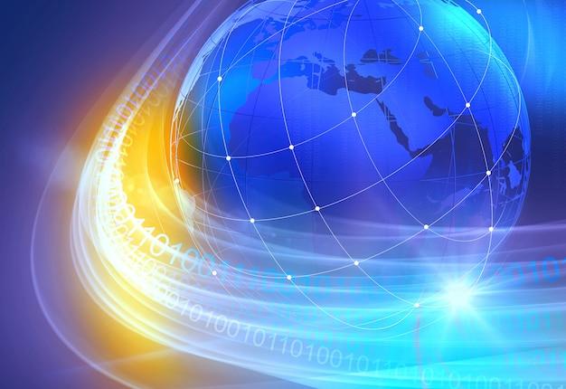 Grafische digitale wereld achtergrond