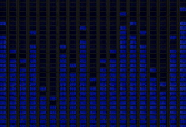 Grafische equalizer 3d render