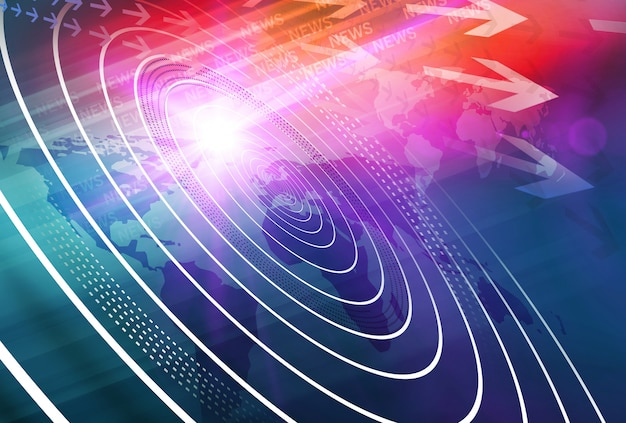 Grafische moderne digitale nieuwsachtergrond