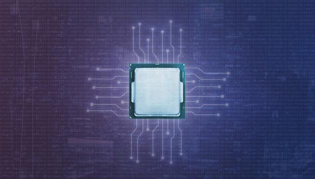 Grafische processoreenheid gpu en micro-elektronische circuits.