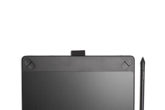 Grafische tablet met pen voor illustratoren en ontwerpers, geïsoleerd