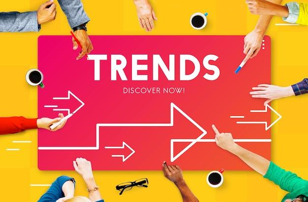 Grafische zakelijke trends