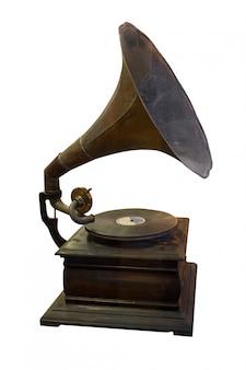 Grammofoonspeler en schijf