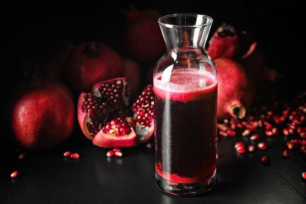 Granaatappelsap en granaatappelfruit