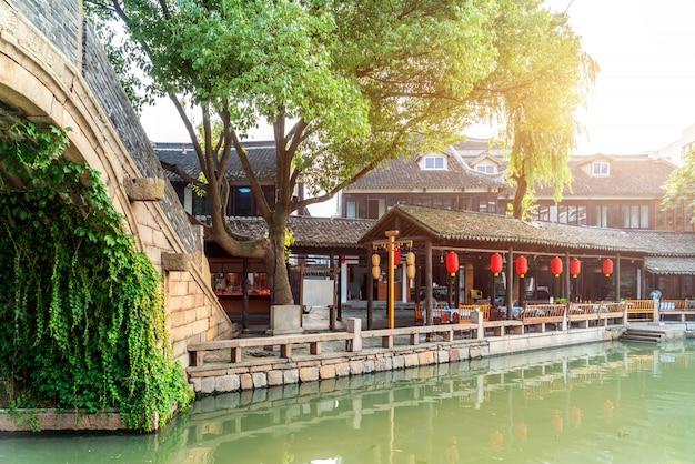 Grand canal peking en hangzhou en boogbrug