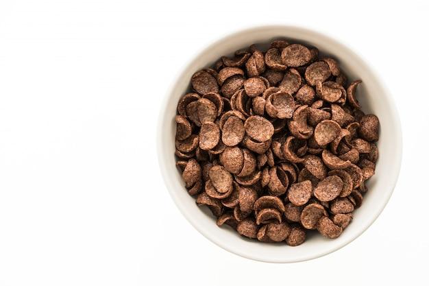 Granenchocolade in witte kom