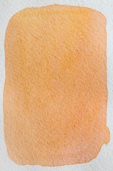Grapefruit geel, rood, oranje, verse hand getekende abstracte aquarel achtergrond. ruimte voor tekst, belettering, kopiëren. briefkaartsjabloon.