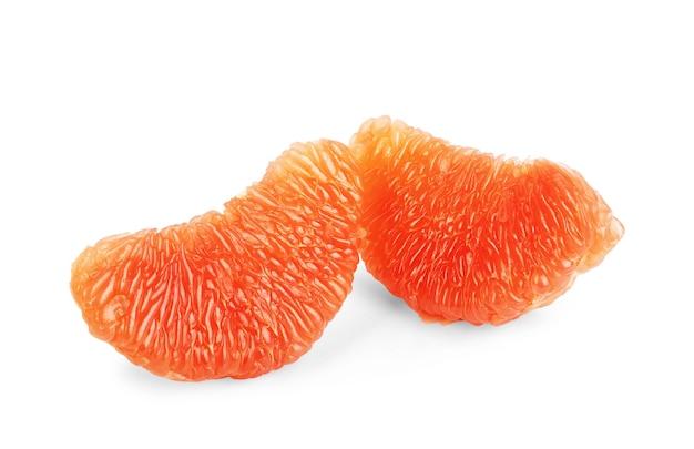 Grapefruit geïsoleerd op een witte achtergrond. stuk fruit. met uitknippad