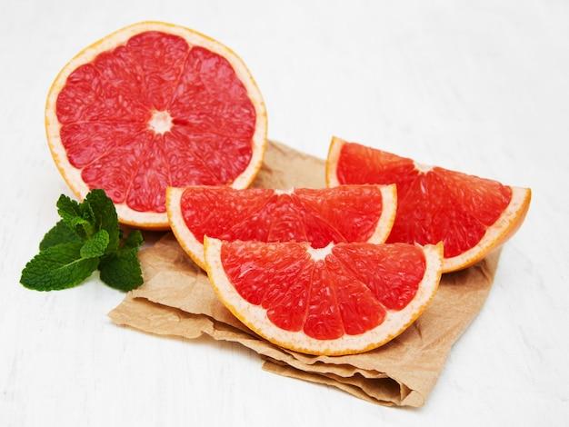 Grapefruit met munt