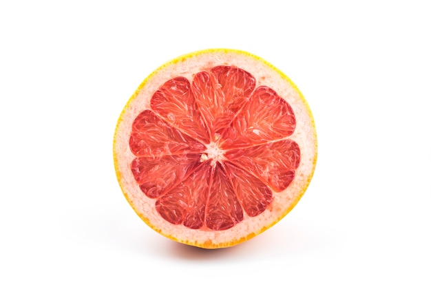 Grapefruit op wit
