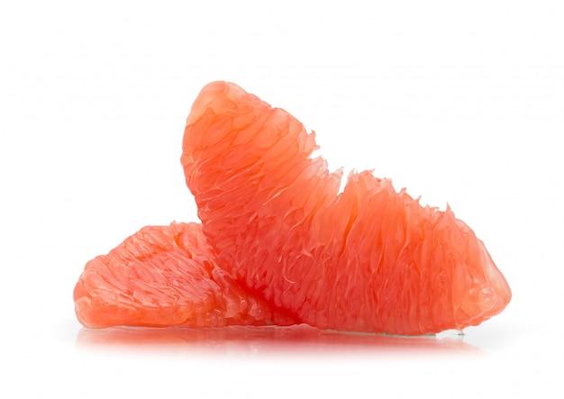 Grapefruit op wit