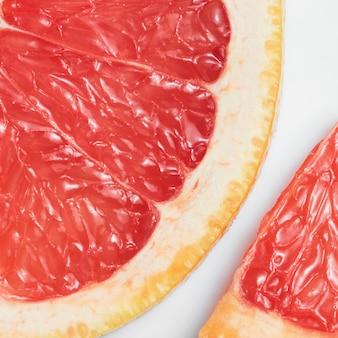 Grapefruit plakjes close-up