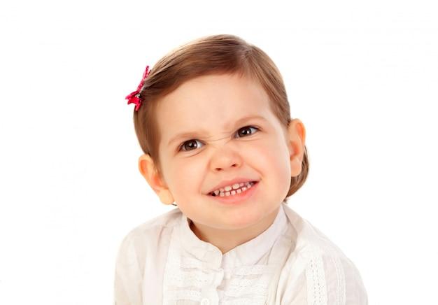 Grappig klein meisje