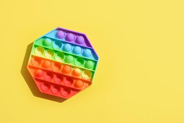 Grappig siliconen kleurrijk anti-stress pop-it-speelgoed voor kinderen