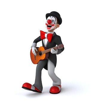 Grappige 3d-afbeelding van een grappige clown