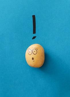 Grappige aardappel
