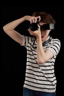 Grappige fotograaf