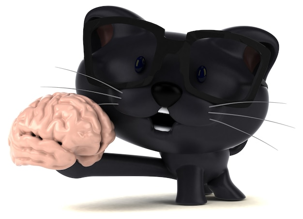 Grappige kat 3d illustratie