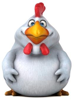 Grappige kip 3d illustratie