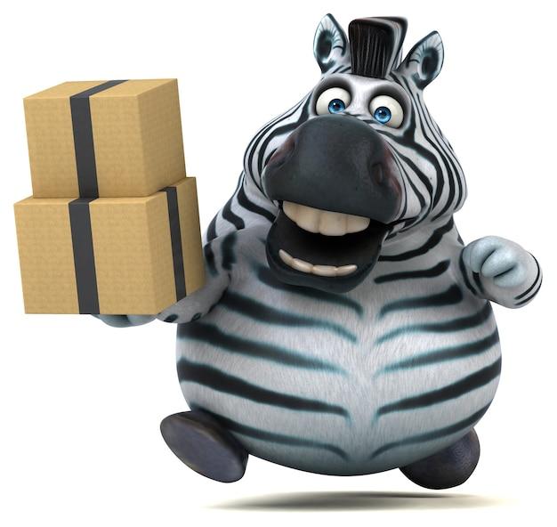 Grappige zebra 3d-afbeelding