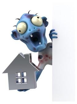 Grappige zombie 3d illustratie