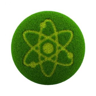 Gras bol wetenschap pictogram