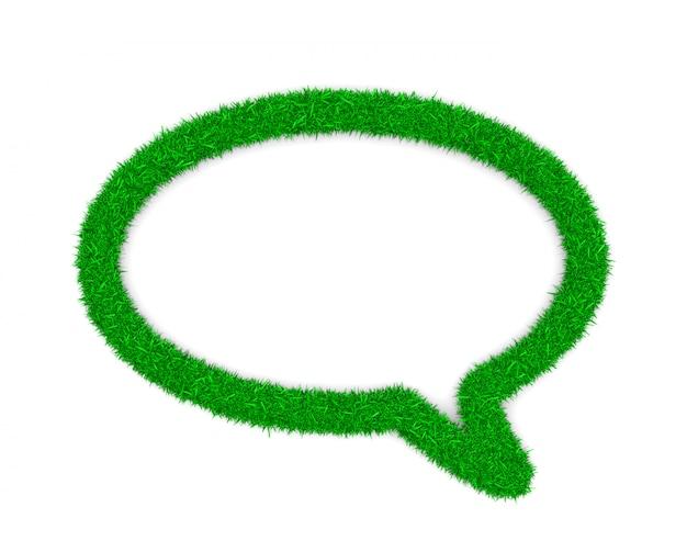 Gras toespraak bubble symbool vorm