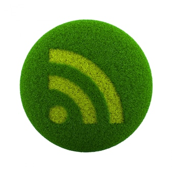Grass sphere rss-pictogram