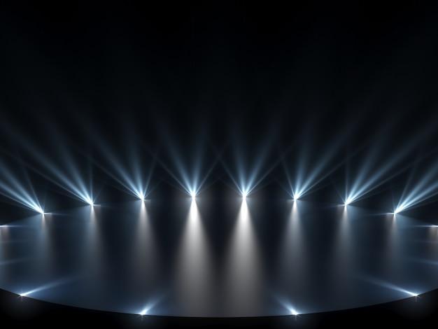 Gratis podium met verlichting