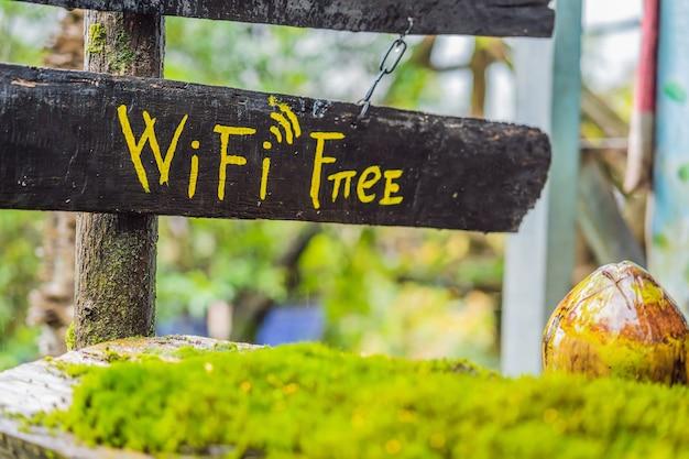 Gratis wifi in de natuur in het bos