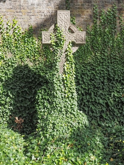 Graven en kruisen op gotische begraafplaats