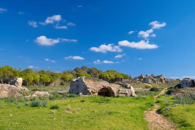 Graven van de koningen, archeologisch museum in paphos, cyprus