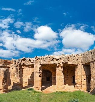 Graven van de koningen, archeologisch museum in paphos op cyprus