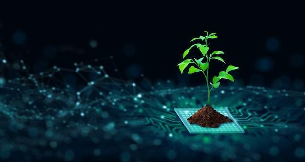 Green computing groene technologie groene it mvo en it-ethiek concept