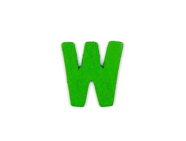 Green letter w