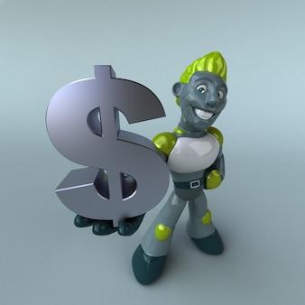 Green robot - 3d karakter