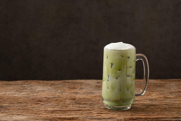 Greentea matcha latte koude drank frisdrank
