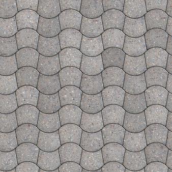 Grey pavement - gebogen trapezium. naadloze tegelbaar textuur.