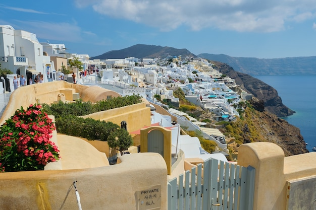 Griekenland, santorini, oia. beroemd grieks eiland santorini