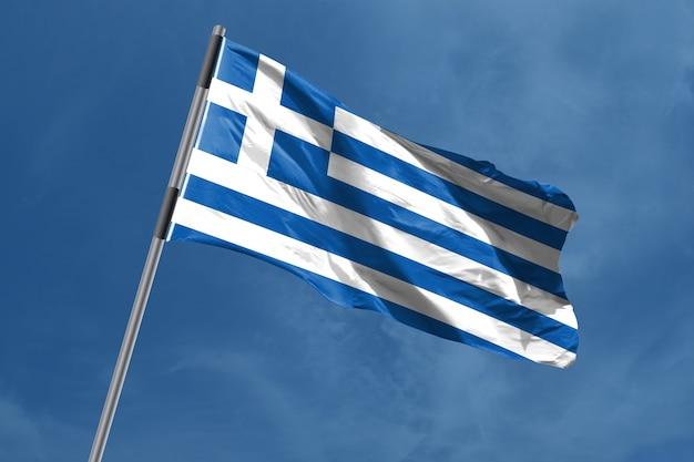 Griekenland vlag zwaaien