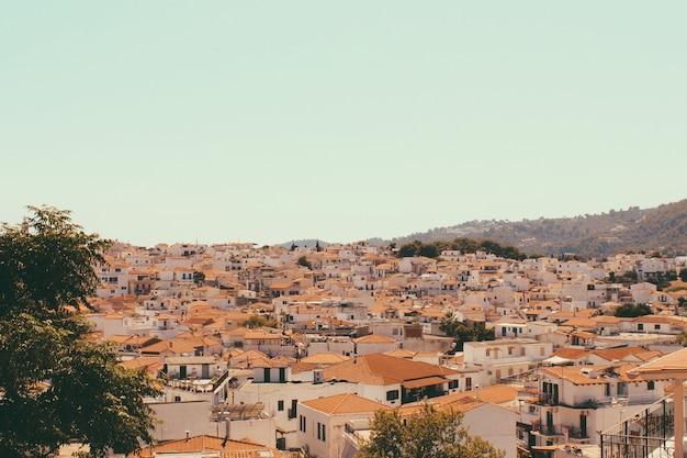 Griekse eilandstad met traditionele architectuur