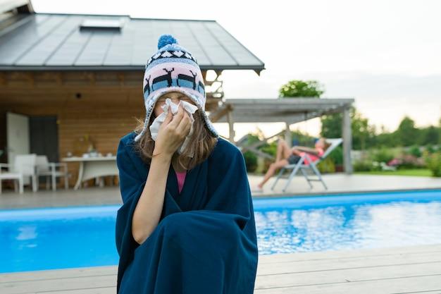 Griep, verkoudheid in de zomer.