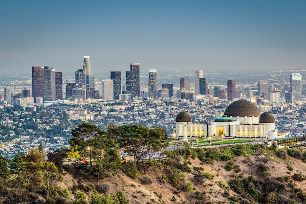Griffith observatorium in los angeles, vs