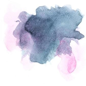 Grijs aquarel. borstelbeeld