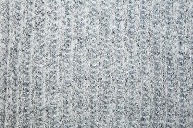 Grijs gemêleerde fluffy geweven draad trui of sjaal