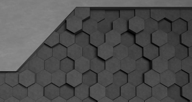 Grijs geometrisch vormenbehang