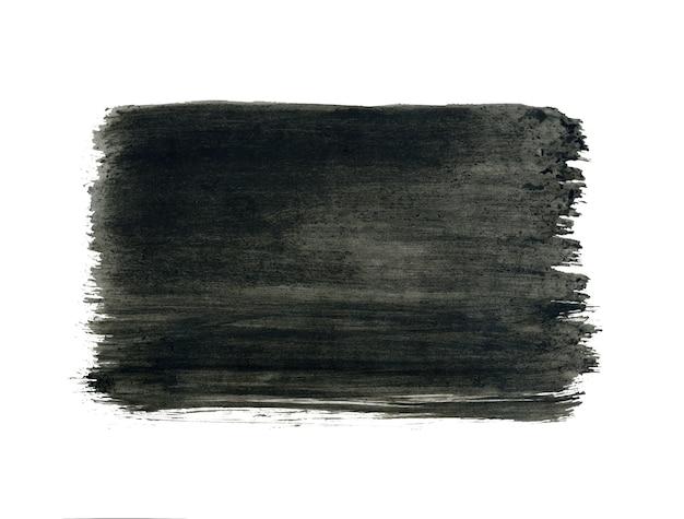 Grijs geschilderd frame, zwarte druppel geïsoleerd op wit