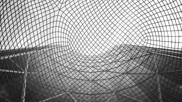 Grijsschaalweergave van netstructuur