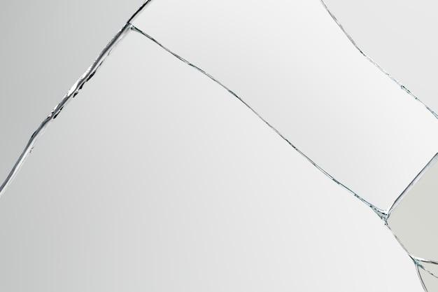 Grijze achtergrond met gebarsten glastextuur