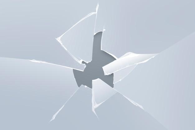 Grijze achtergrond met gebroken glaseffect